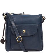 'Shona' Snorkel Blue Leather Cross Body Bag image 1