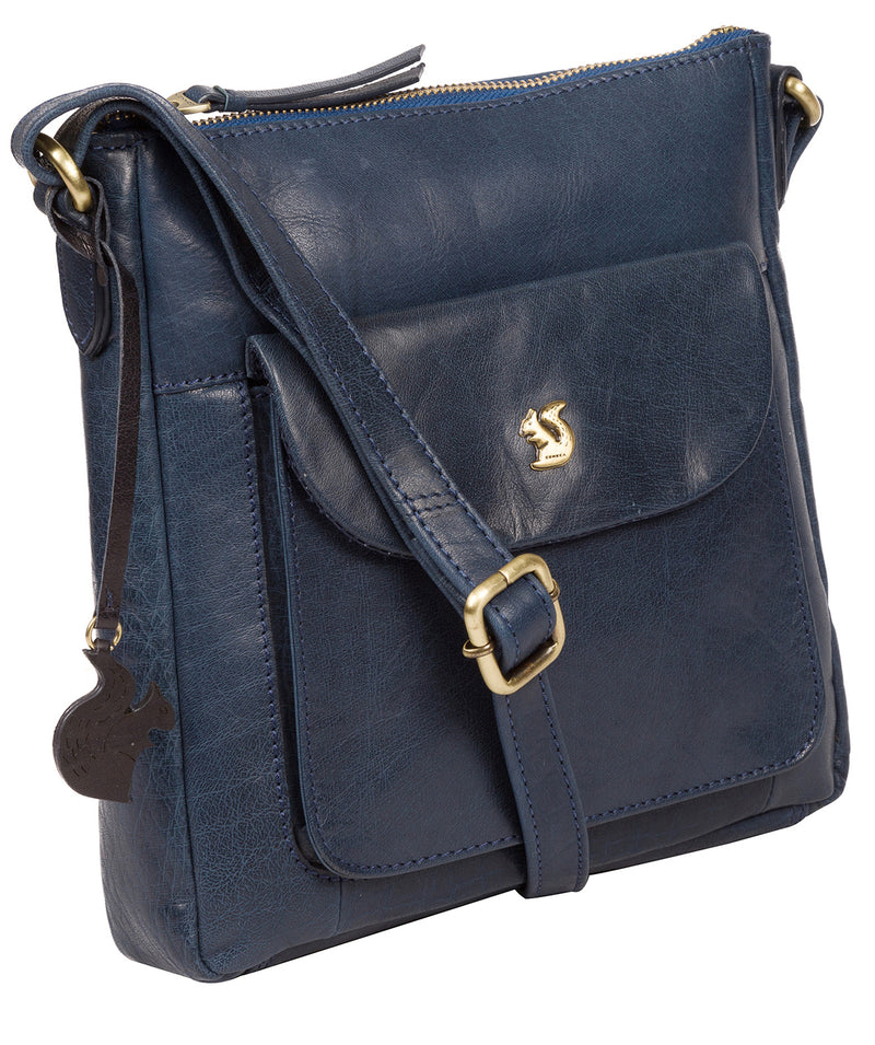 'Shona' Snorkel Blue Leather Cross Body Bag image 5