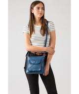 'Shona' Snorkel Blue Leather Cross Body Bag image 2