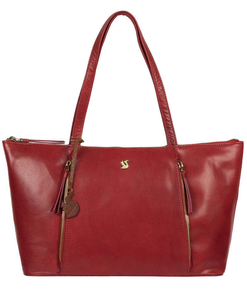 'Clover' Chilli Pepper Leather Tote Bag image 1