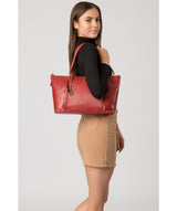 'Clover' Chilli Pepper Leather Tote Bag image 7