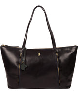 'Clover' Navy Leather Tote Bag Pure Luxuries London