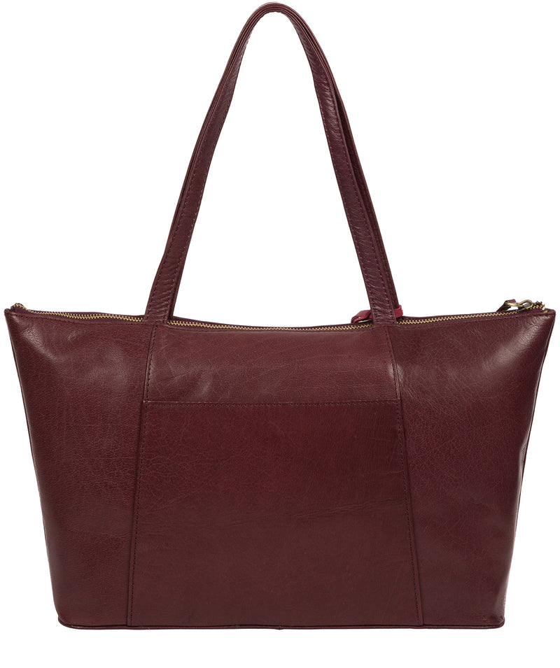 'Clover' Plum Leather Tote Bag image 3