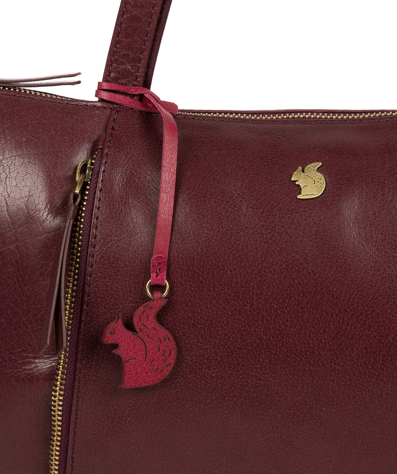 'Clover' Plum Leather Tote Bag image 6
