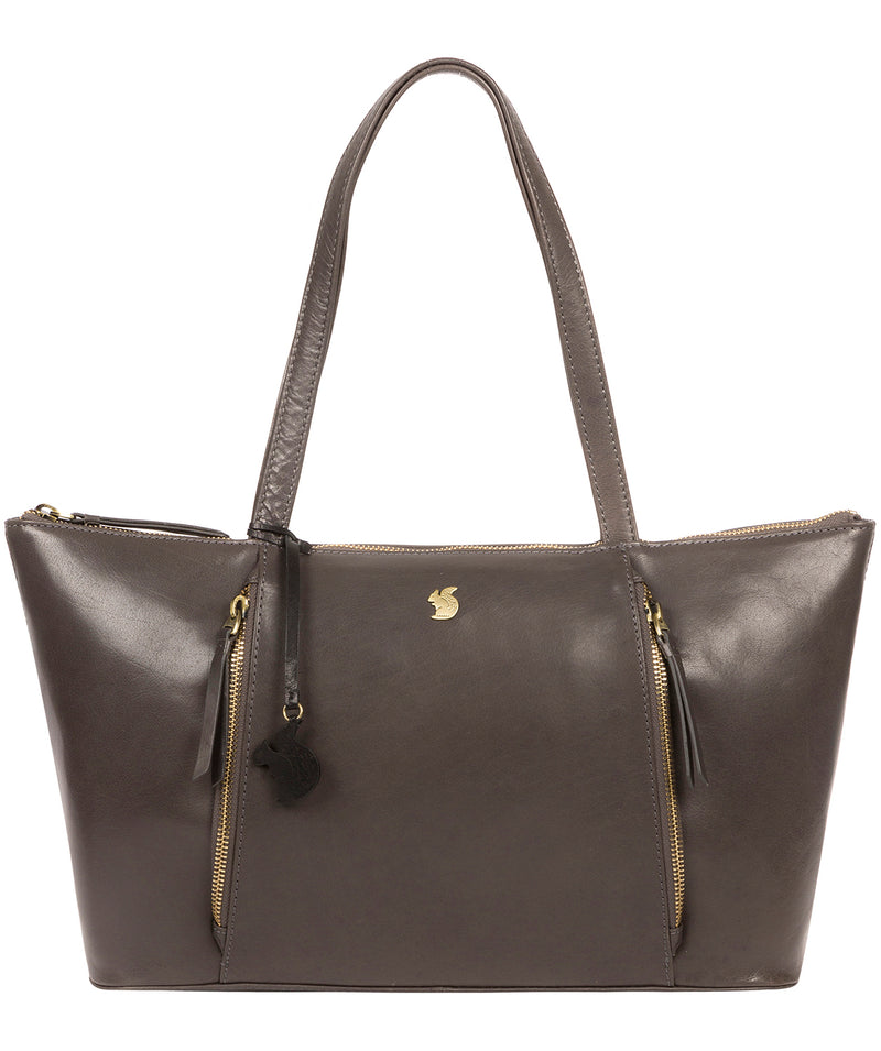 'Clover' Slate Leather Tote Bag image 1