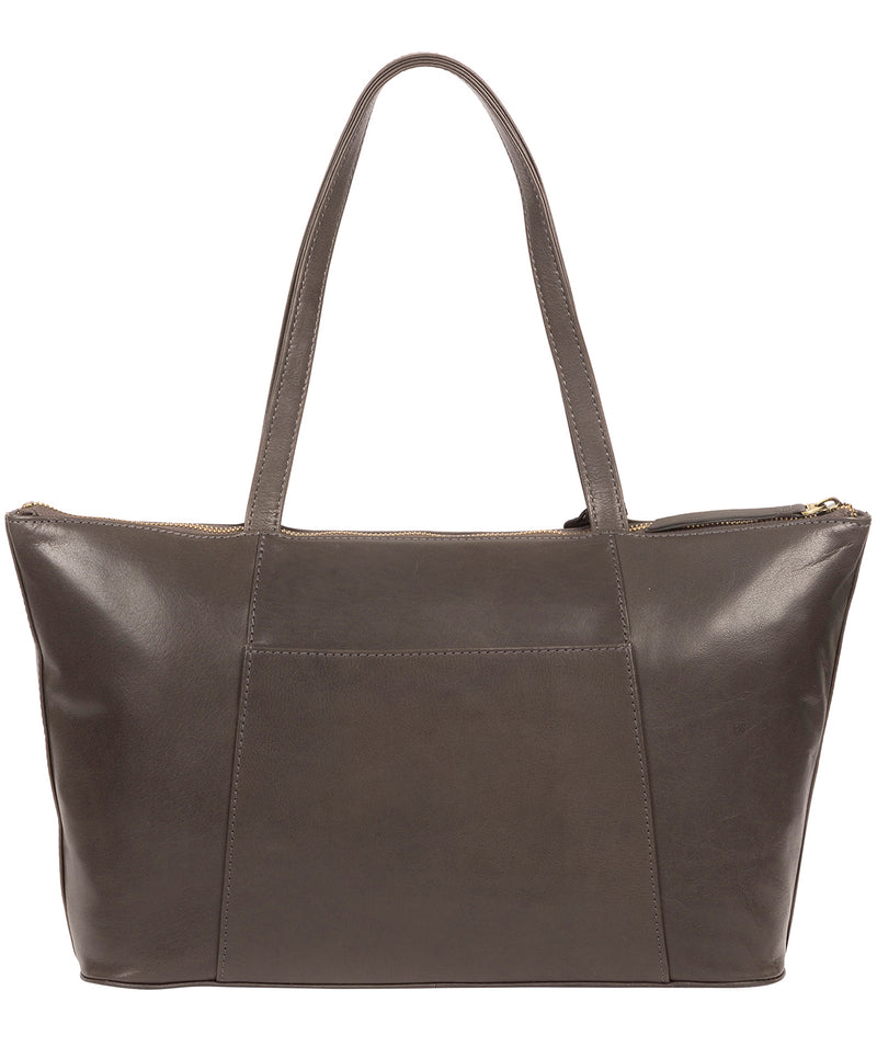 'Clover' Slate Leather Tote Bag image 3