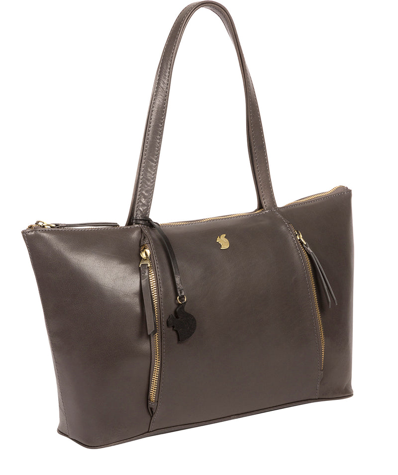 'Clover' Slate Leather Tote Bag image 5