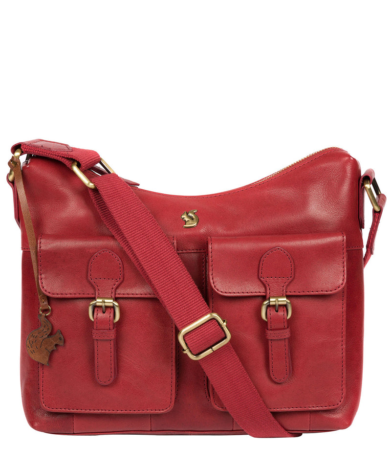 'Nancie' Chilli Pepper Leather Shoulder Bag image 1