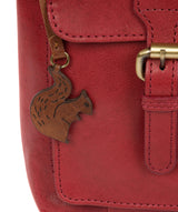 'Nancie' Chilli Pepper Leather Shoulder Bag image 3
