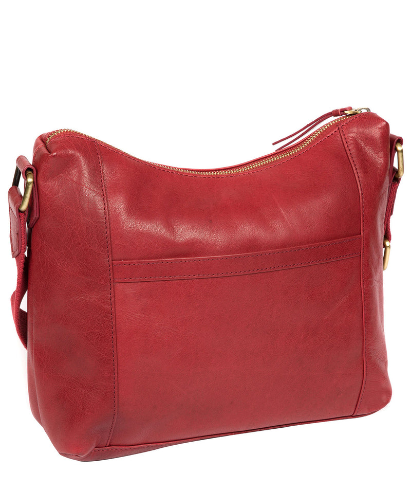 'Nancie' Chilli Pepper Leather Shoulder Bag image 5