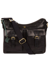 'Nancie' Navy Leather Shoulder Bag image 1
