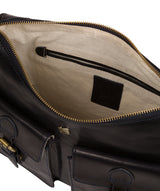 'Nancie' Navy Leather Shoulder Bag image 4