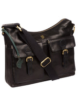 'Nancie' Navy Leather Shoulder Bag image 5