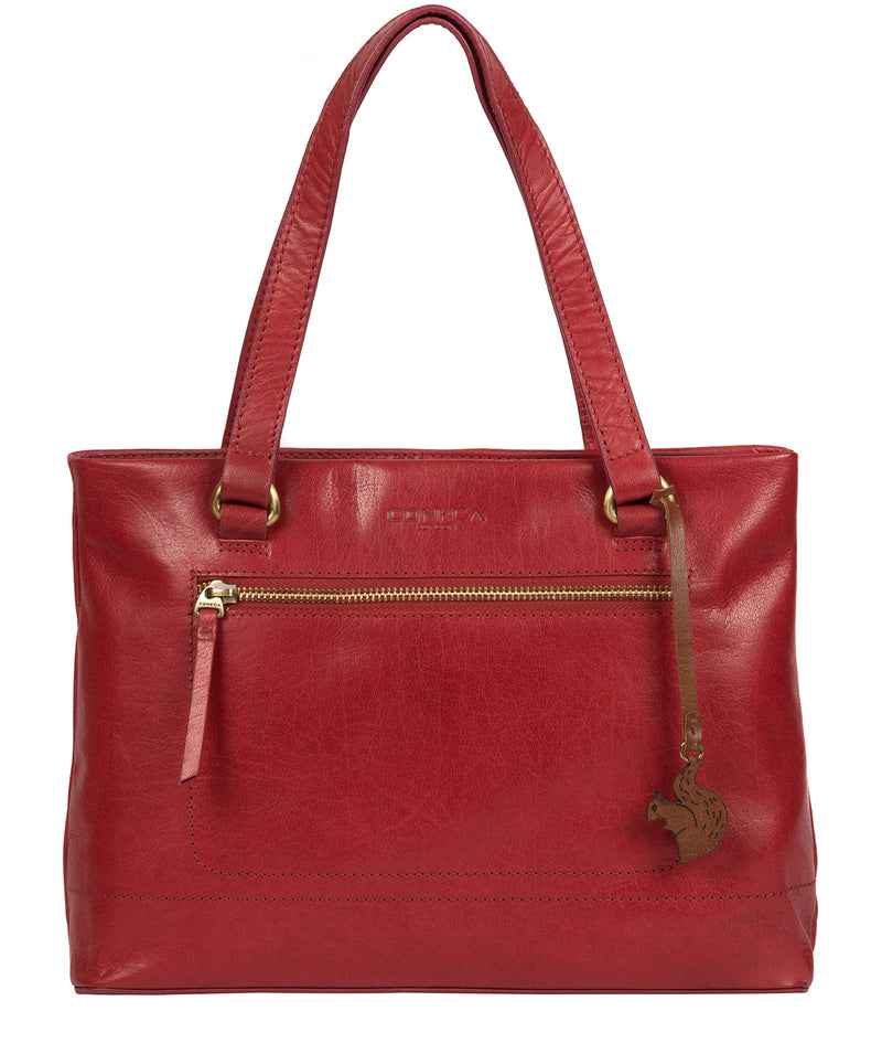 'Alice' Chilli Pepper Leather Handbag image 1