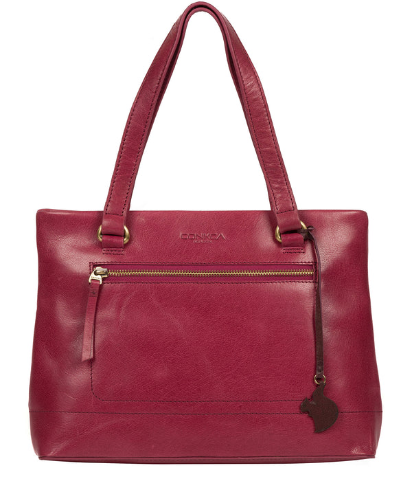 'Alice' Orchid Leather Handbag image 1
