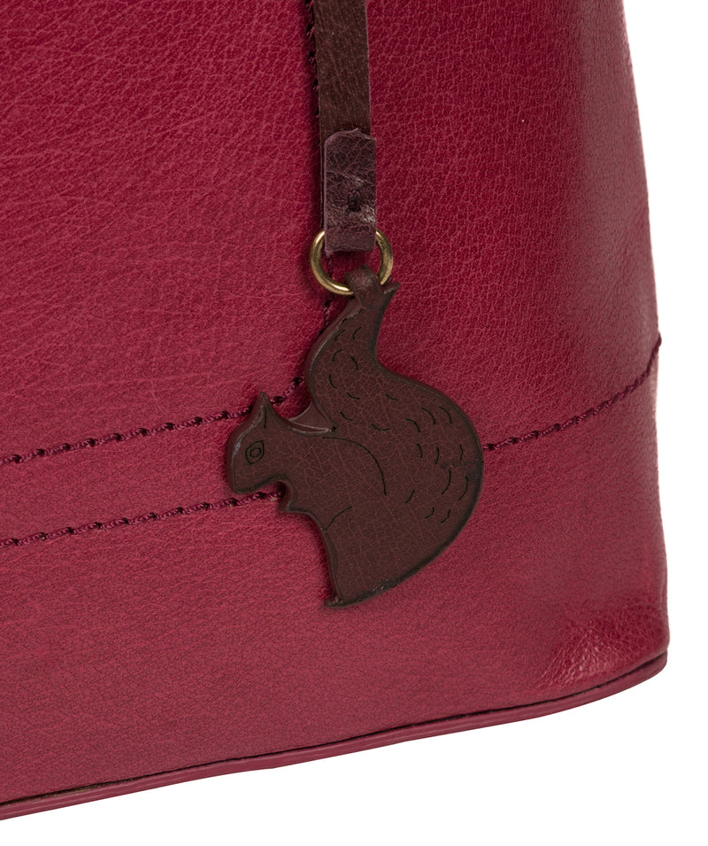 'Alice' Orchid Leather Handbag image 6