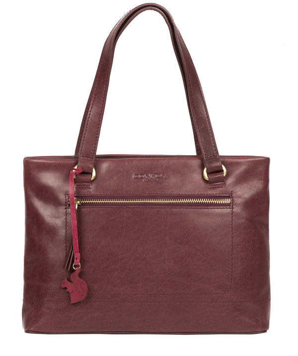 'Alice' Plum Leather Handbag image 1
