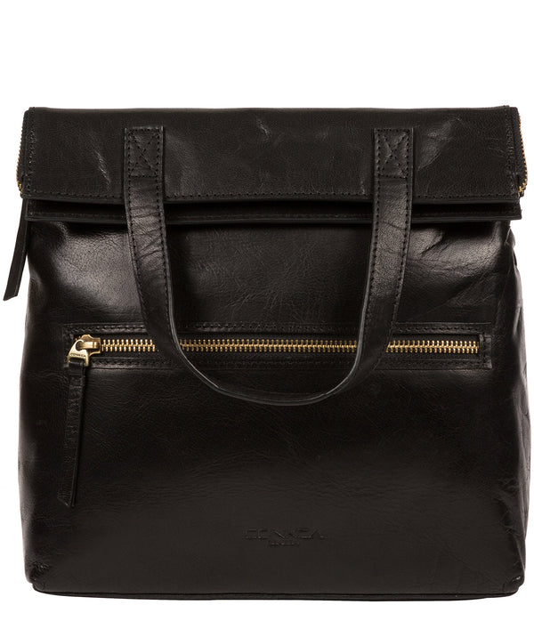 'Anoushka' Black Leather Backpack image 1