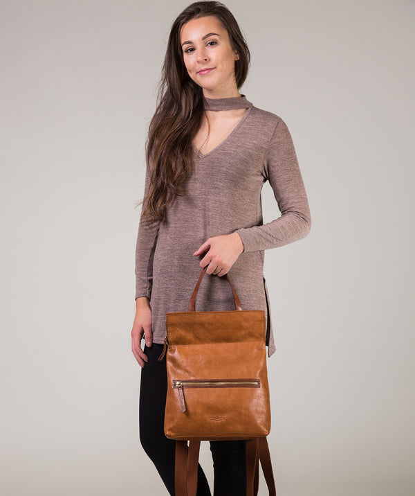 'Anoushka' Cognac & Conker Brown Leather Backpack