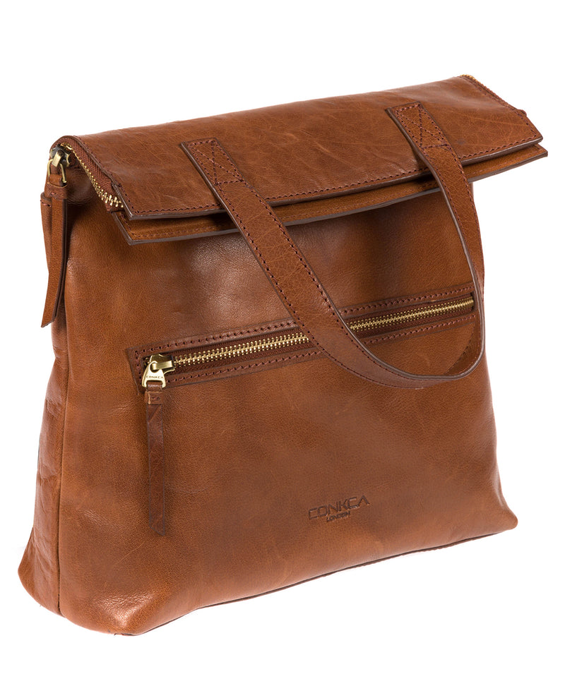 'Anoushka' Conker Brown Leather Backpack