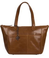 'Harp' Dark Tan Leather Tote Bag image 1
