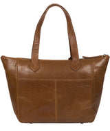 'Harp' Dark Tan Leather Tote Bag image 3