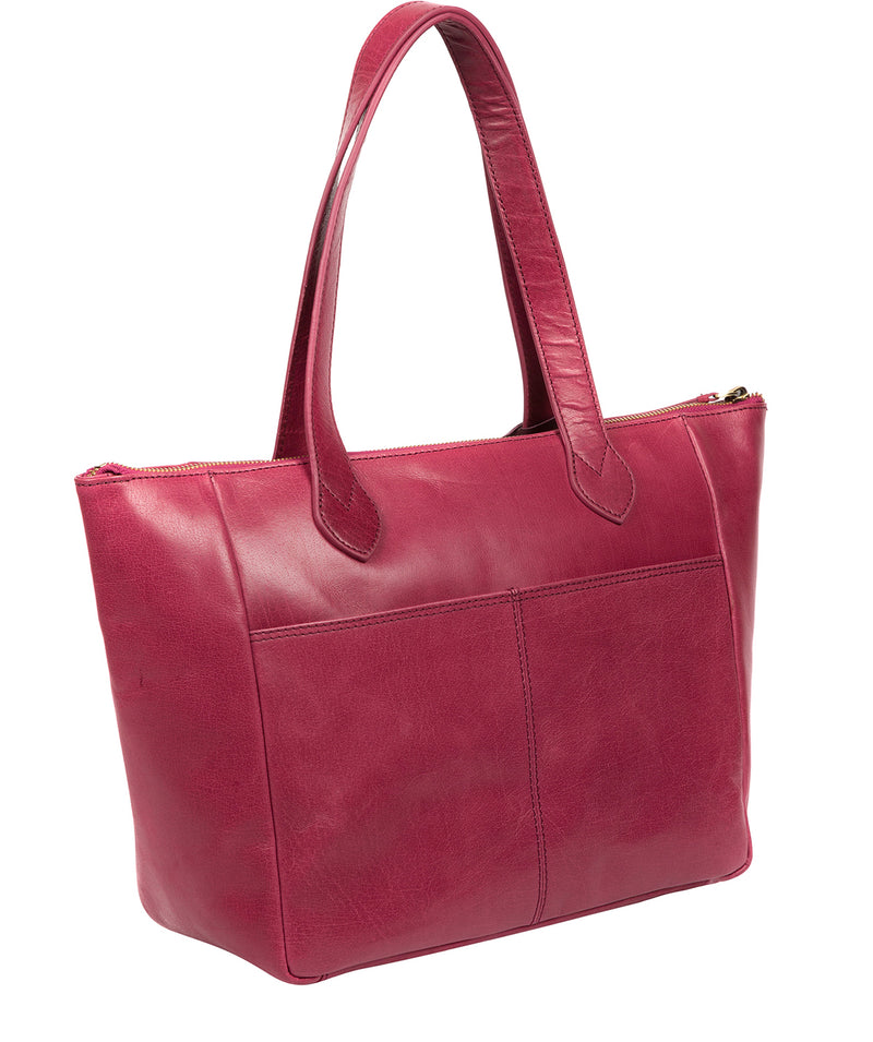 'Harp' Orchid Leather Tote Bag Pure Luxuries London