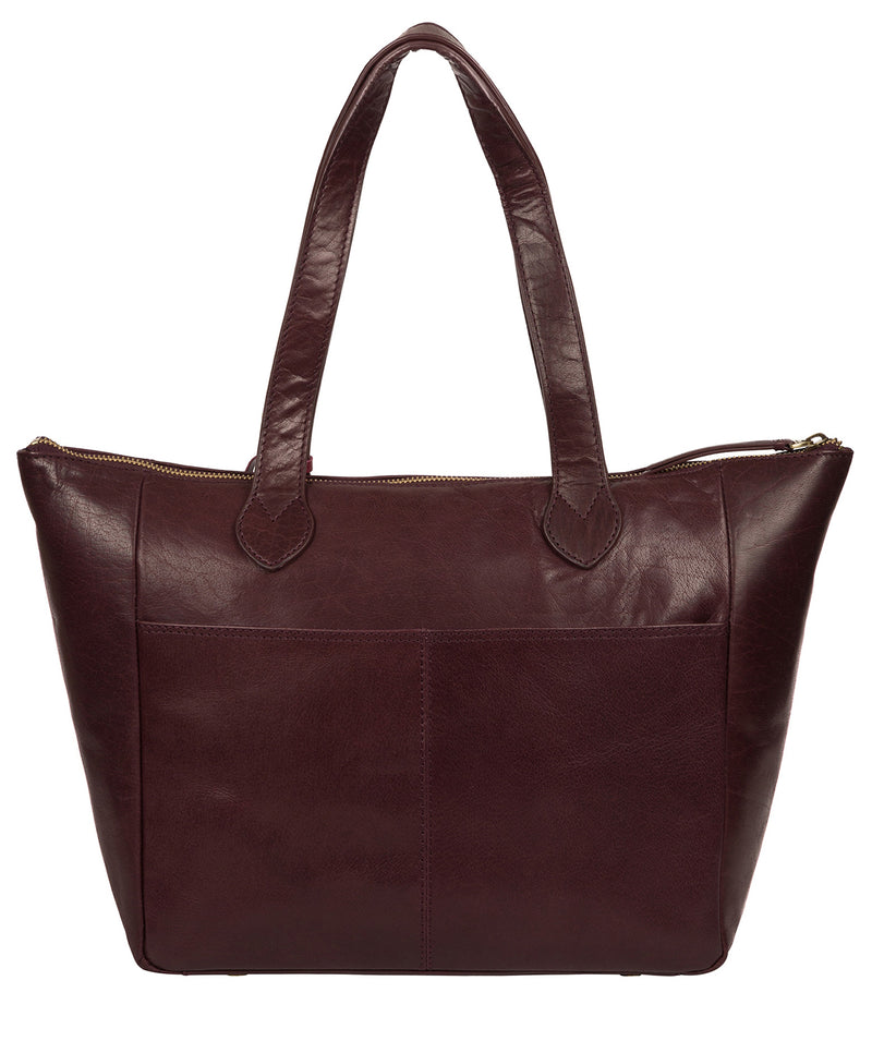 'Harp' Plum Leather Tote Bag image 3