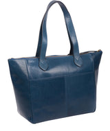 'Harp' Snorkel Blue Leather Tote Bag image 3