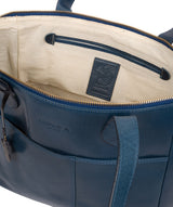 'Harp' Snorkel Blue Leather Tote Bag image 4