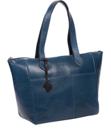 'Harp' Snorkel Blue Leather Tote Bag image 5