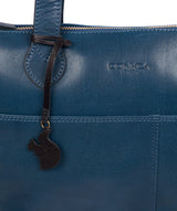 'Harp' Snorkel Blue Leather Tote Bag image 6