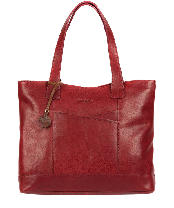 'Patience' Chilli Pepper Leather Tote Bag Pure Luxuries London
