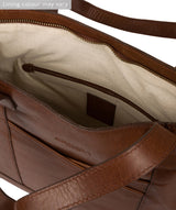 'Patience' Conker Brown Leather Tote Bag image 4