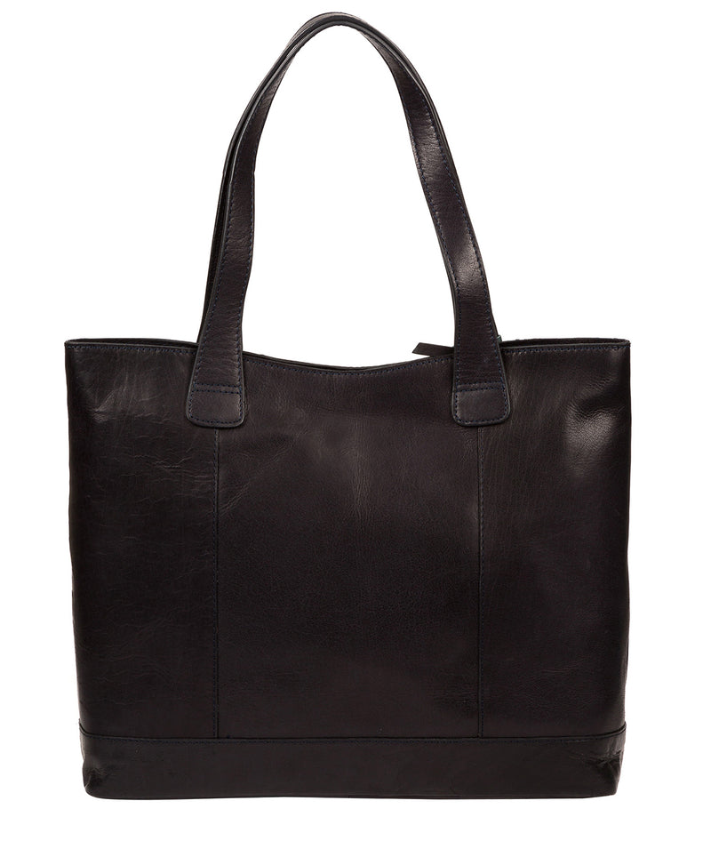 'Patience' Navy Leather Tote Bag image 3
