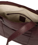 'Patience' Plum Leather Tote Bag image 4