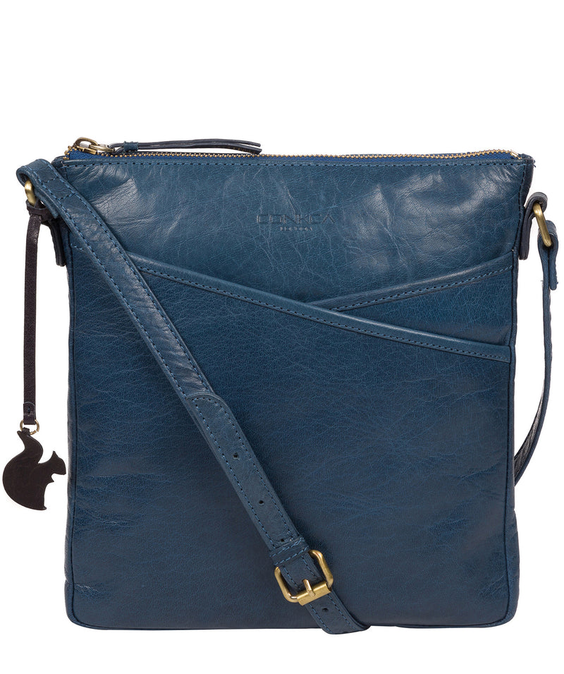 'Avril' Snorkel Blue Leather Cross Body Bag image 1