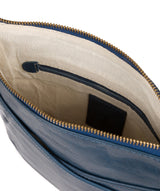 'Avril' Snorkel Blue Leather Cross Body Bag image 4
