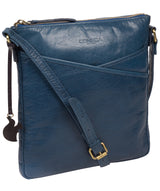 'Avril' Snorkel Blue Leather Cross Body Bag image 5