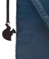 'Avril' Snorkel Blue Leather Cross Body Bag image 6