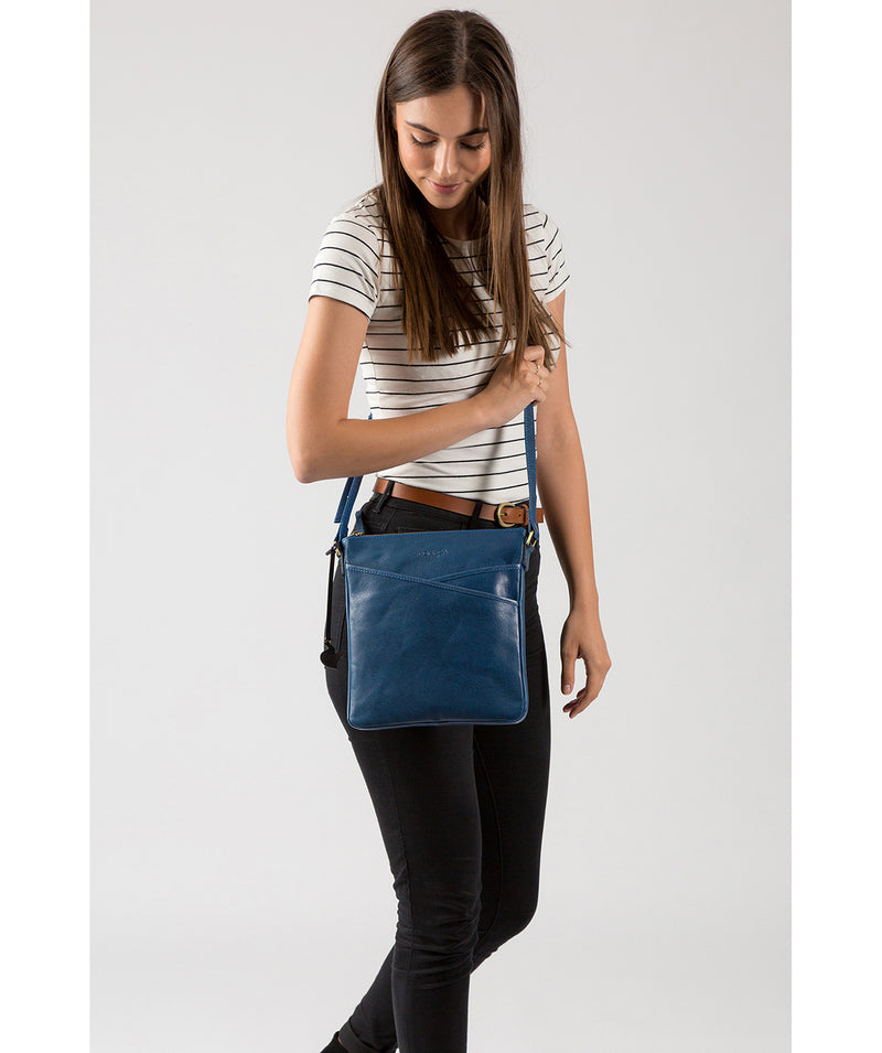 'Avril' Snorkel Blue Leather Cross Body Bag image 2