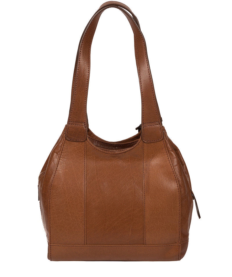 'Juliet' Conker Brown Handcrafted Leather Handbag Pure Luxuries London