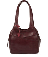 'Juliet' Plum Leather Handbag image 1