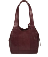 'Juliet' Plum Leather Handbag image 3