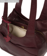 'Juliet' Plum Leather Handbag image 4