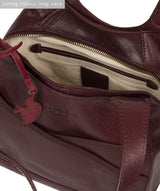 'Juliet' Plum Leather Handbag image 5