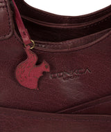 'Juliet' Plum Leather Handbag image 6