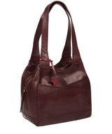 'Juliet' Plum Leather Handbag image 7