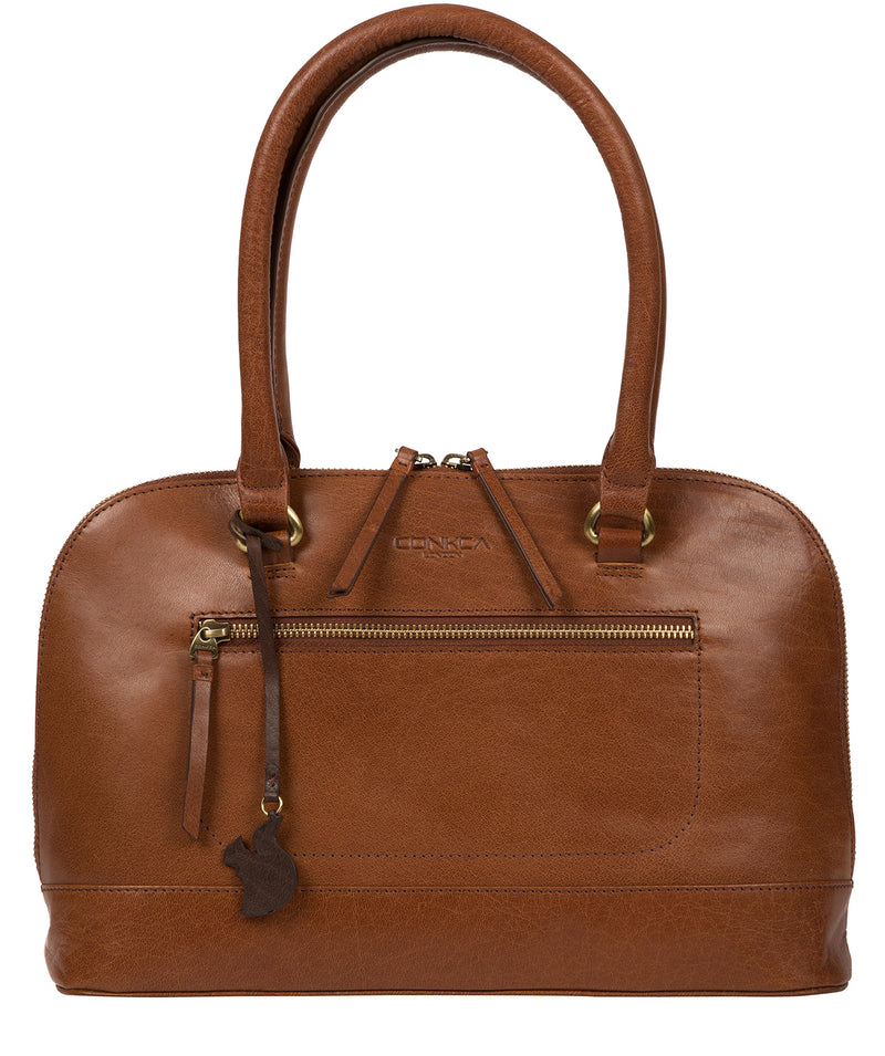 'Bailey' Conker Brown Leather Handbag image 1