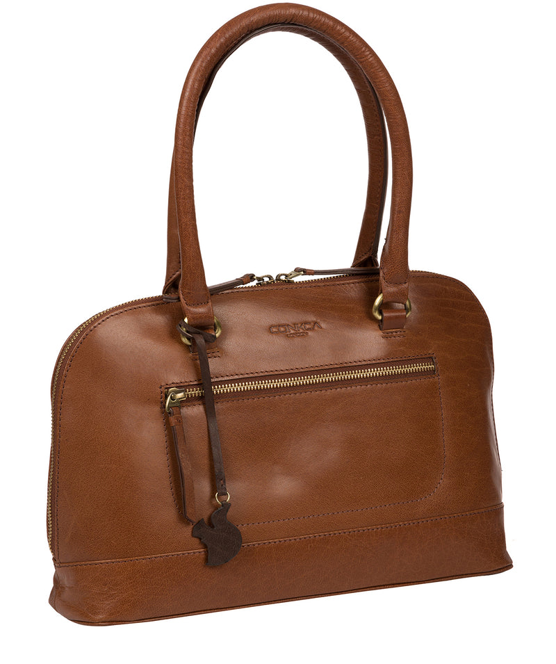 'Bailey' Conker Brown Leather Handbag image 3